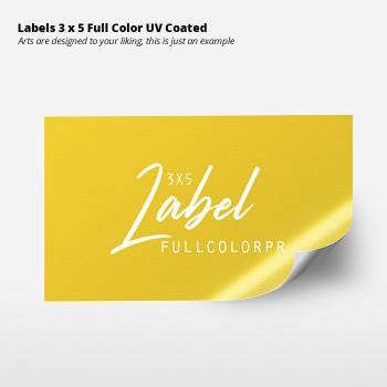 Labels 3 x 5 Full Color  UV Coated Entrega Gratis todo Puerto Rico