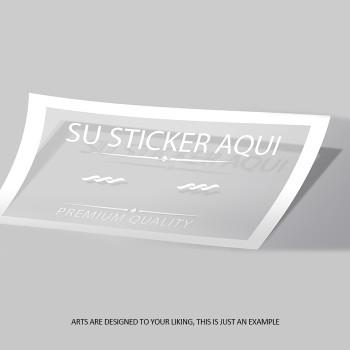 Bumper Sticker 3x11.5 Entrega Gratis todo Puerto Rico