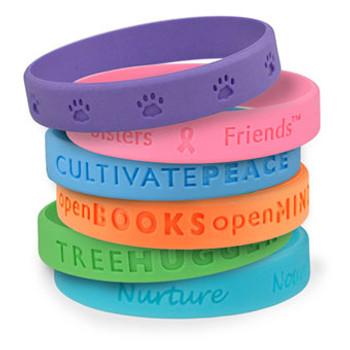 Debossed Wristbands - Variedad de Colores - Para todo tipo de eventos