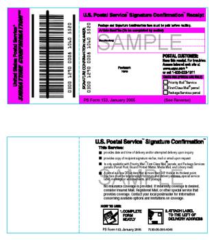 Servicio Signature Confirmation  (USPS)