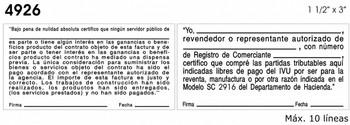 Ejemplo de texto en sello de madera modelo 7926