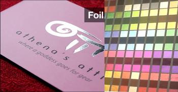 Foil Label Full Color UV Coated