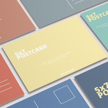 5000 Postcards 5x7 Full Color UV Coated 12Pts Entrega Gratis Puerto Rico