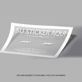 Bumper Sticker 3 3/4 x 7 1/2 Full Color Entrega Gratis todo Puerto Rico