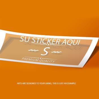 Bumper Sticker Custom 2.5 x 6  Full Color Entrega Gratis todo Puerto Rico