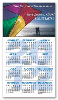 Calendario Full Color 4.25 x 11 16pts UV Coated