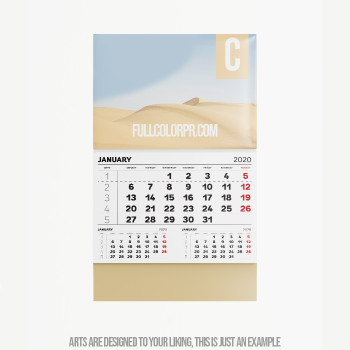 Calendarios 4.25  x11 Full Color Entrega Gratis