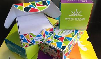 Cajas para 250 tarjetas de Presentacion de hasta 16 pts.