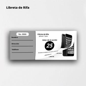 Libreta de Rifa Entrega Gratis USA Puerto Rico