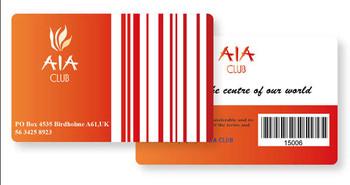Ejemplo de tarjeta plástica con barcode