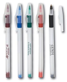 Boligrafo Plastico Grip Stick Frosted  ( Colores no necesariamente idénticos a los ilustrados)