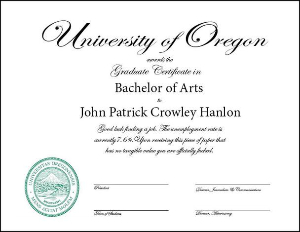 Ejemplo de Certificado 8.5 x 11 en dos colores