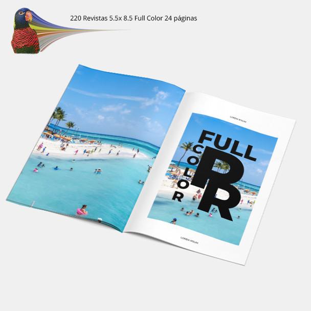 220 Revistas 5.5x 8.5 Full Color 24 Paginas RUSH Entrega Gratis