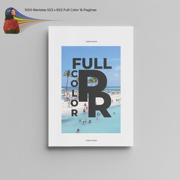 1000 Revistas 51/2 x 81/2  Full Color 16 Paginas