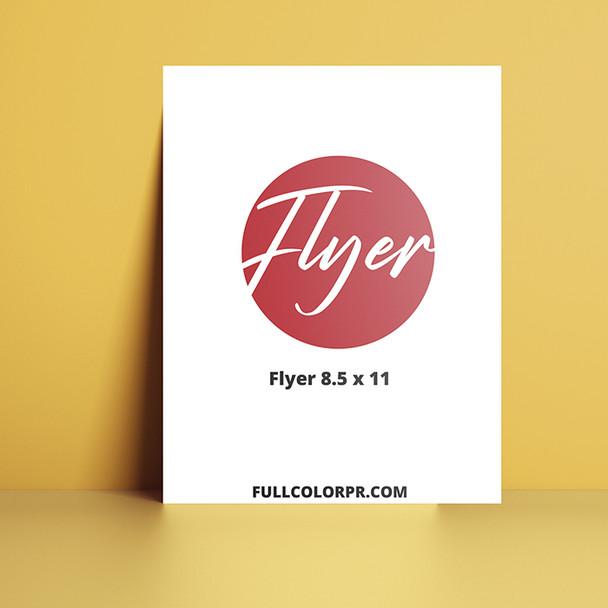 Flyers 8.5 x 11 Full Color Entrega Gratis todo Puerto Rico