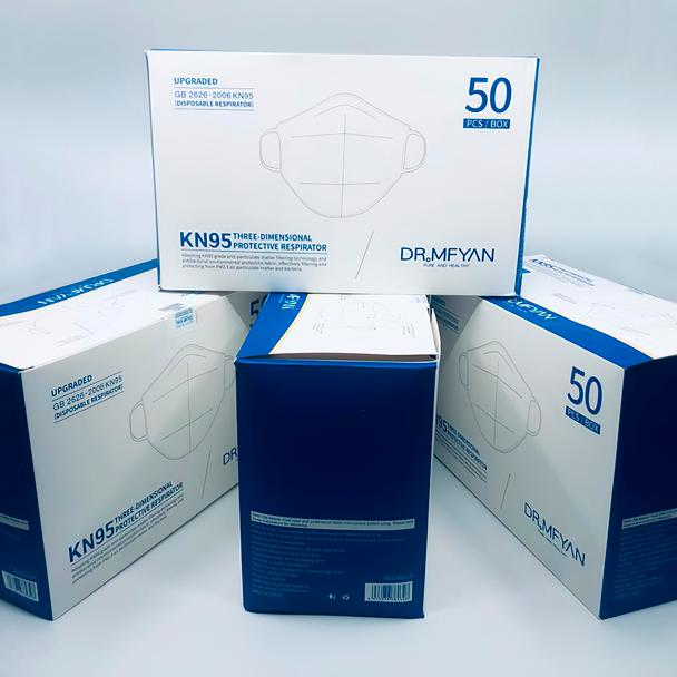 KN95 Face Mask 50 pcs Box Single Pack
