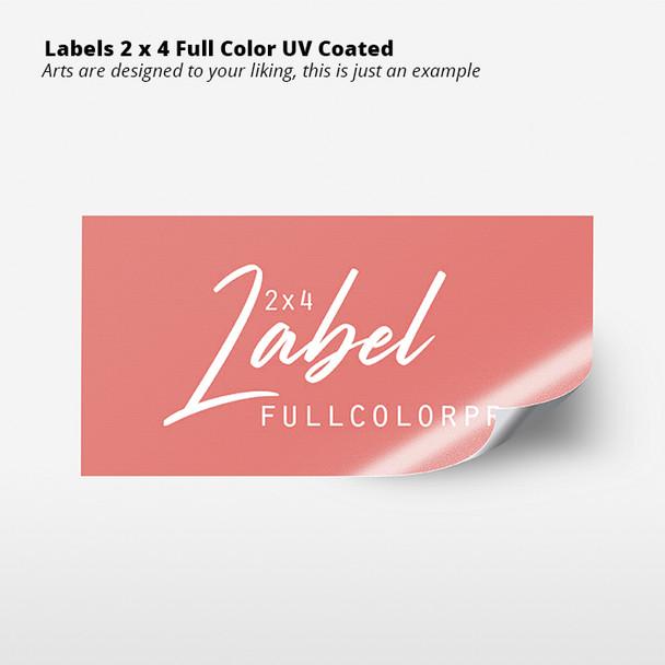 Labels 2 x 4 Full Color  UV Coated Entrega Gratis todo Puerto Rico