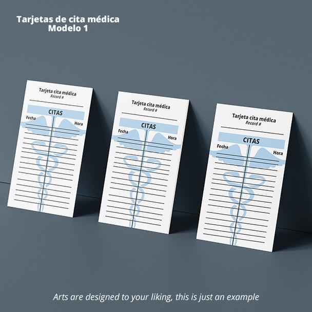 Tarjetas de Cita Medica Full Color Entrega Gratis Puerto Rico
