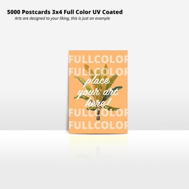 5000 Postcards 3x4 Full Color UV Coated Entrega Gratis Puerto Rico