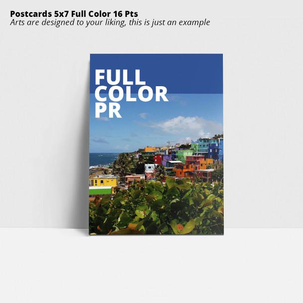 Postcards 5x7 Full Color 16 Pts Entrega Gratis Puerto Rico