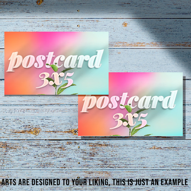 5000 Postcards 3x5 Full Color 12Pts UV Coated Entrega Gratis todo Puerto Rico