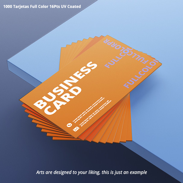 1000 Tarjetas Full Color 16Pts UV Coated Entrega Gratis