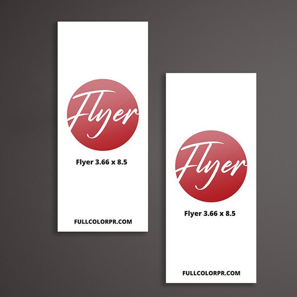 Flyer Insert 3.66 x 8.5 Full Color Entrega Gratis Puerto Rico