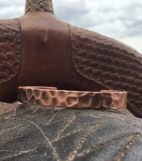 Magnetic Hammered Copper Bracelet