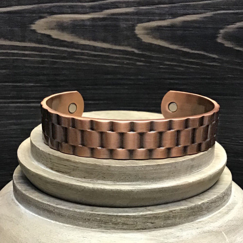 Watch Band Style Magnetic Copper Bracelet