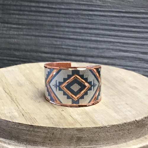 Southwestern Cream Copper Ring