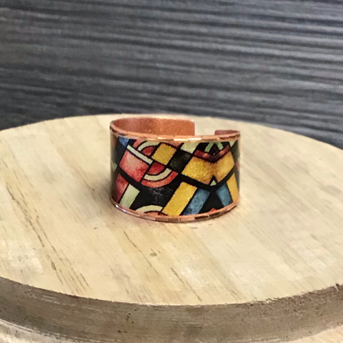 Colors Abound Copper Ring