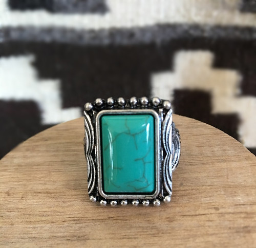 Turquoise Beauty Rectangle Ring
