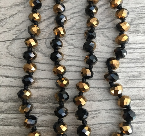Layering Beads - Tuxedo Gold/Black