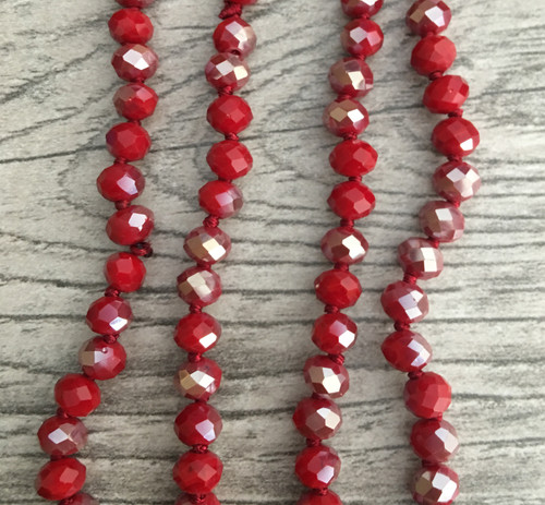 Layering Beads - Aggie Red