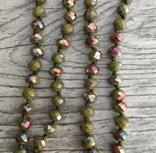 Layering Beads - Vintage Olive/Rose