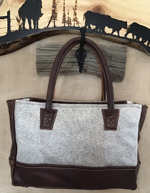 Zarza Leather and Cowhide Bag