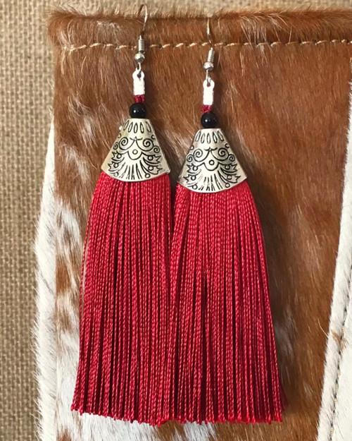 Ooh La La Tassel Earrings - Red