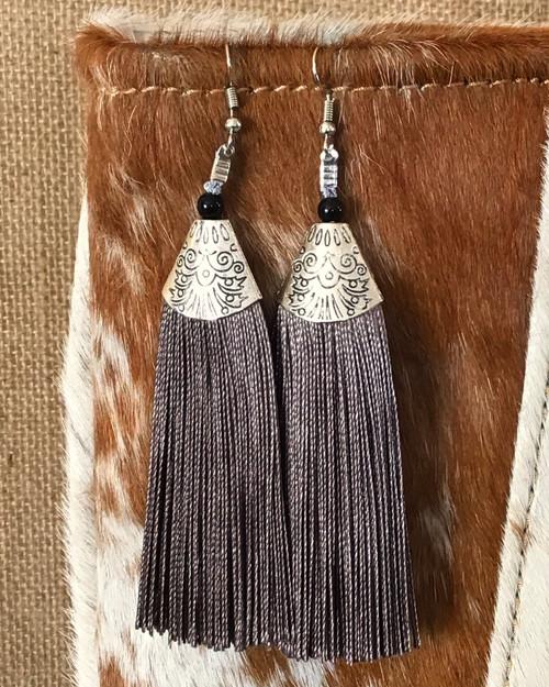 Ooh La La Tassel Earrings - Gray