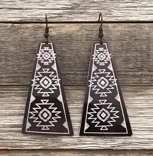 Tribal Burnished Copper Earrings