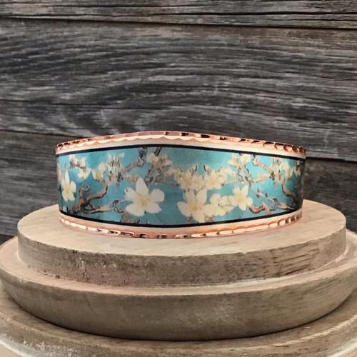 Van Gogh Almond Blossom Copper Bracelet
