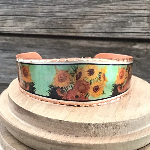 Van Gogh Sunflower Copper Bracelet
