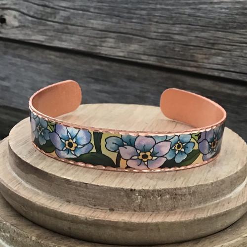 Narrow Style Van Gogh Copper Bracelet