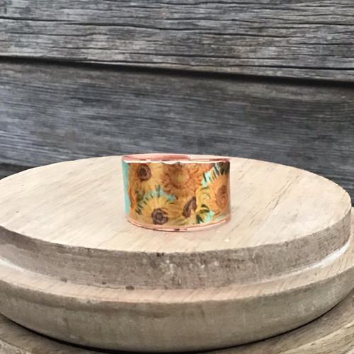Van Gogh Sunflower Copper Ring