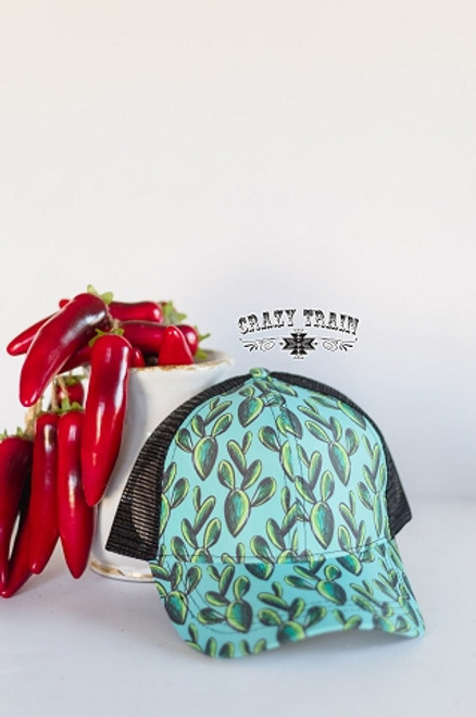 Kiss My Turquoise Cactus Hat