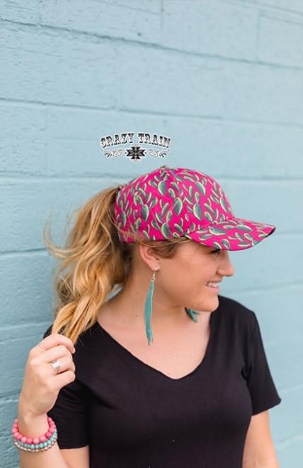 Kiss My Hot Pink Cactus Hat