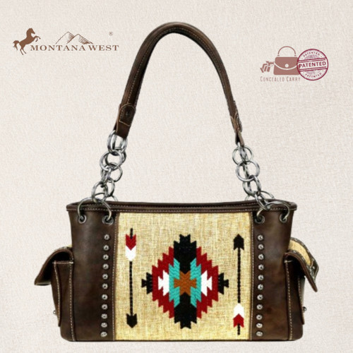 Aztec Collection Concealed Carry Satchel