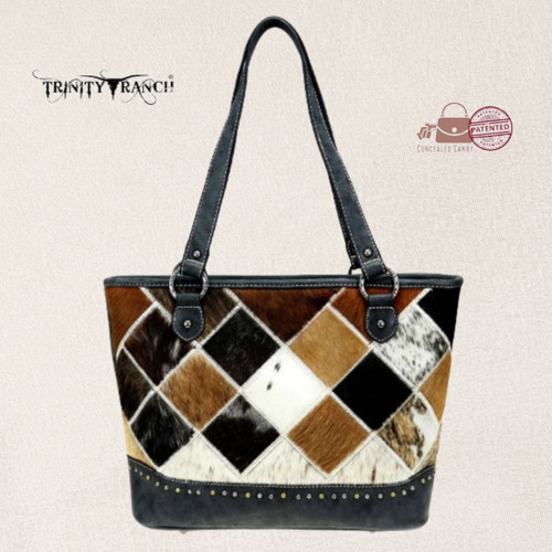 Trinity Ranch Hair-On Collection Concealed Carry Tote