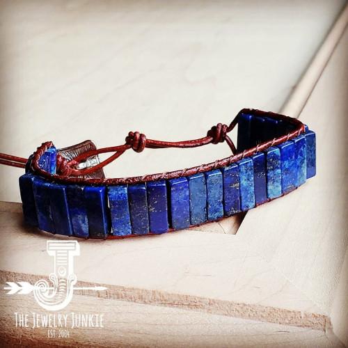 Lapis Stacked Stone Bracelet