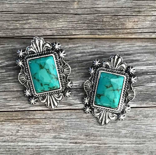 Square Green Turquoise