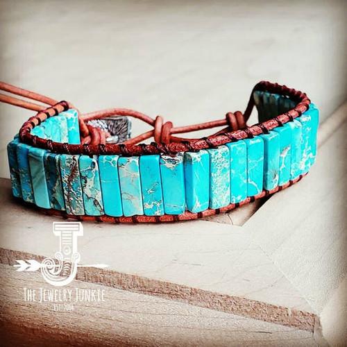 Turquoise Stacked Stone Bracelet
